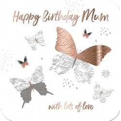 Lea Rose Gold Large Luxury 3D Handmade Mum Birthday Card by Talking Pictures