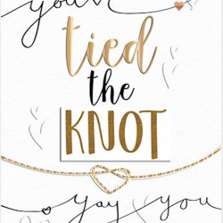 You've tied the Knot Luxury Handmade Wedding Card by Talking Pictures