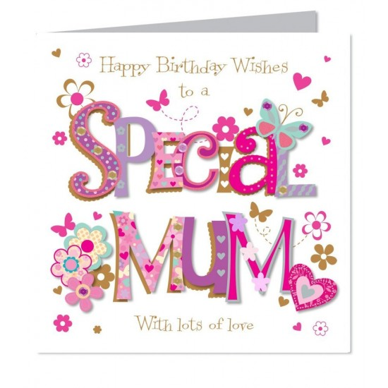 Large Luxury Handmade Special Mum Birthday Card