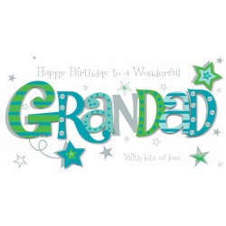 Luxury Handmade To A Wonderful Grandad Happy Birthday Card