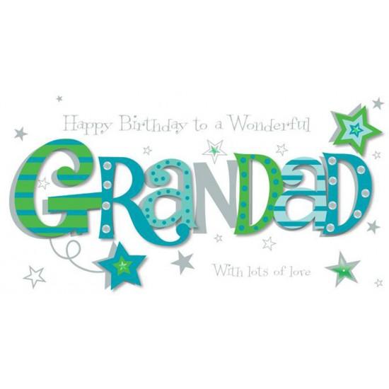 Luxury Handmade To A Wonderful Grandad Happy Birthday Card