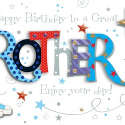 Luxury Handmade To A Great Brother Happy Birthday Card