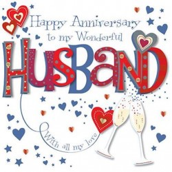 Wonderful Husband Happy Anniversary Greeting Card By Talking Pictures Greetings Cards