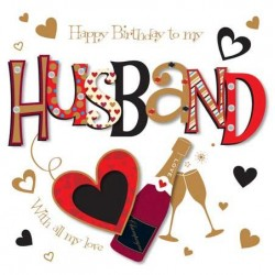 Husband Happy Birthday Love You Luxury Handmade Card by Talking Pictures