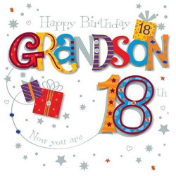 Grandson 18th Happy Birthday Luxury 3D Handmade Card by Talking Pictures