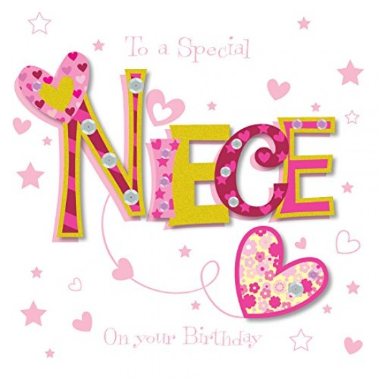 New Special Niece Happy Birthday Greeting Card By Talking Pictures Cards
