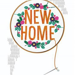 New Home Embroidery Luxury Handmade Card by Talking Pictures