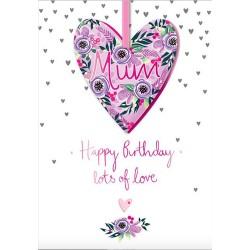 Luxury Handmade Mum Lots of Love Happy Birthday Card