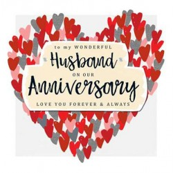 My wonderful Husband On Our Anniversary - Love You Forever & Always - Luxury Handmade Card by Talking Pictures