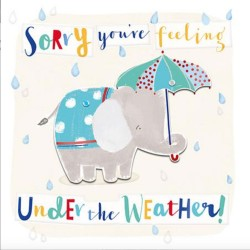 Get Well Soon Elephant - Sorry you're feeling under the weather - Card by Talking Pictures