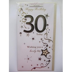 30 Today 30th Birthday Luxury 3D Handmade Greeting Card From Talking Pictures