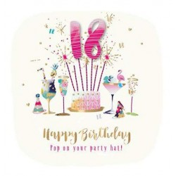 18th Hand Finished Birthday Card by Talking Pictures Range