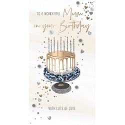 To A Wonderful Mum - Luxury Handmade Birthday Card - Starlight Range From Talking Pictures