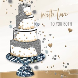 On Your Wedding Day - Luxury Handmade Greeting Card - Starlight Range From Talking Pictures