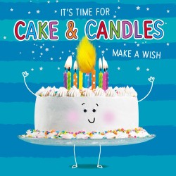 It's Time For Cake & Candles Happy Birthday Greeting Card