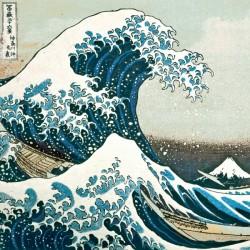 The Great Wave of Kanogawa, Hokusai 1760-1849 Japanese Print Large Blank Greeting Card (C2395)