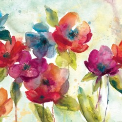 Watercolour Poppies by Carol Robinson Print Large Blank Greeting Card (C2396)
