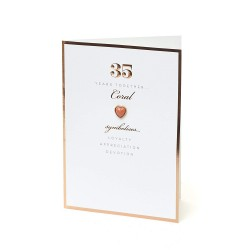 35th Coral Anniversary UK Greetings Card