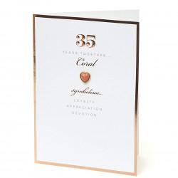 35th Coral Anniversary UK Greetings Card
