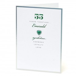 55th Emerald Special Edition Anniversary UK Greetings Card