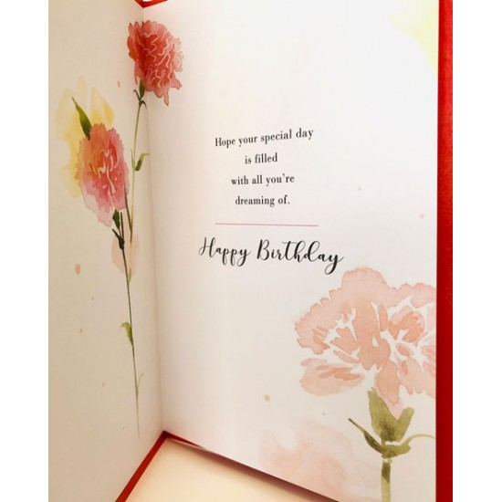For Your January Birthday Carnation Flower of the Month Female Greeting Card (550183)