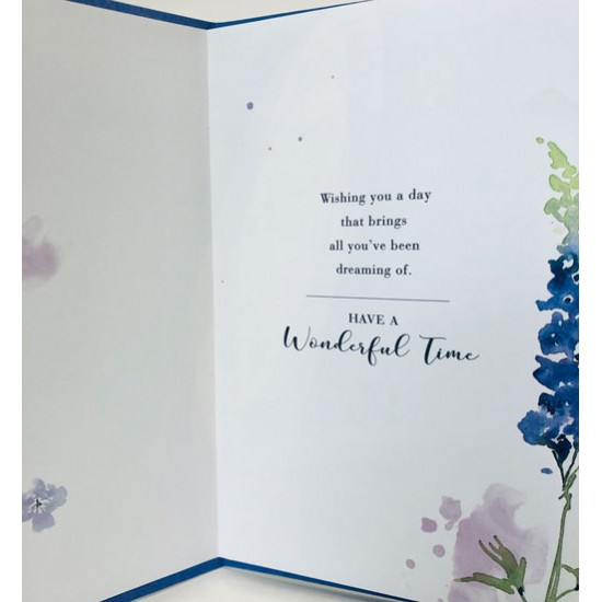 For Your July Birthday Larkspur Flower of the Month Female Greeting Card (550177)