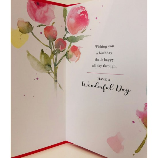 For Your May Birthday Peony Flower of the Month Female Greeting Card (550179)