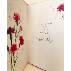 For Your January Birthday Carnation Flower of the Month Female Greeting Card (608722)