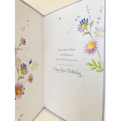 For Your September Birthday Aster Flower of the Month Female Greeting Card (608729)