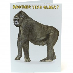 Another Year Older Rude Cheeky Gorilla Funny Happy Birthday Greeting Card