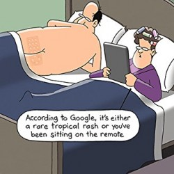 According To Google Tropical Rash Humorous Happy Birthday Card