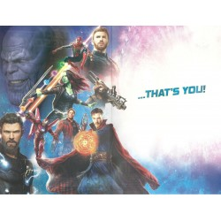 Marvel Avengers Infinity War blank Greeting Card Infinitely Awesome...Thats You