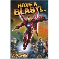 Marvel Avengers Infinity War Iron Man Birthday Greeting Card Have A Blast