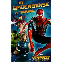 Marvel Avengers Infinity War Birthday Greeting Card My Spider Sense is Tingling