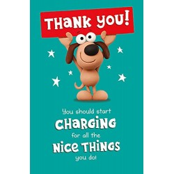 Thank You! You Should Start Charging For All The Nice Things You Do! Card