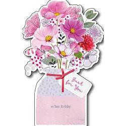 Female Birthday UK Greetings Card Flower Vase Design