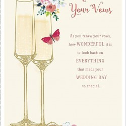 Renew Your Wedding Vows Enjoy Your Special Day Greeting Card