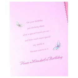 Special Friend Butterflies Design UK Greetings Card