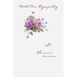 With Our Sympathy Greeting Card