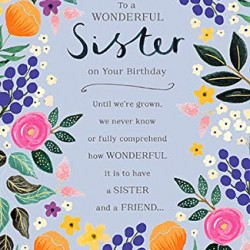 To A Wonderful Sister Happy Birthday Card