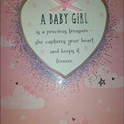 A Baby Girl Detachable Keepsake Greeting Card