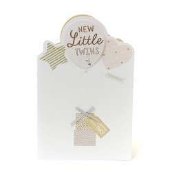 New Little Twins New Baby Unisex Greeting Card