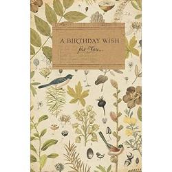 Royal Horticultural Society Birthday Card Birds Design