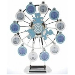 Lesser & Pavey Blue Musical Ferris Wheel For Baby Boy - My First Year Photo Frame