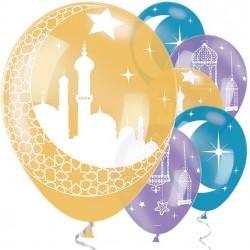 "Ramadan and Eid Theme 11"" Latex Balloons Pack of 6"