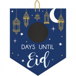 Ramadan Countdown to Eid Chalk Board Sign by Amscan