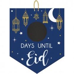 Ramadan Countdown to Eid Chalk Board Sign by Amscan
