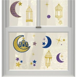 Ramadan and Eid Window Decoration Stickers by Amscan