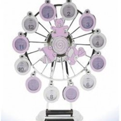 Lesser & Pavey Pink Musical Ferris Wheel For Baby Girl - My First Year Photo Frame