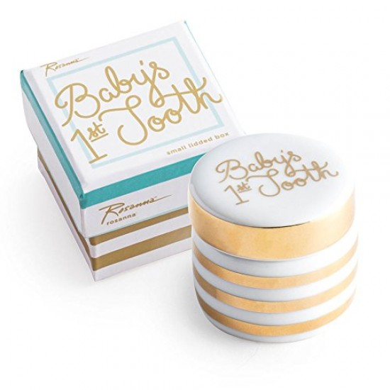 Baby's First Tooth Ceramic Trinket Box By Rosanna
